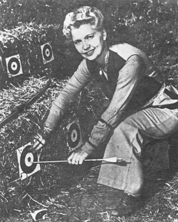 "Matilda ""Babe"" Bitzenberger, co-founder of the Pasadena Roving Archers."