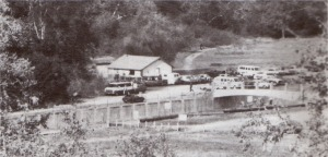The PRA clubhouse stood on the west side of the Lower Arroyo from 1945 to 2002, when it was destroyed by arson. This photo was taken in the 1970s.